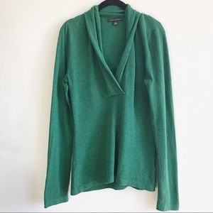 Banana Republic Green Cashmere Blend Sweater